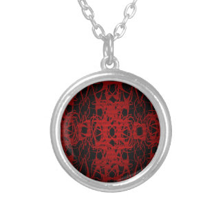 Black and Red Lace Pattern Necklace