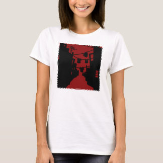 Black and Red Minimalist Alley T-Shirt