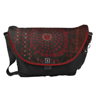 Black and Red Modernist Design Messenger Bag