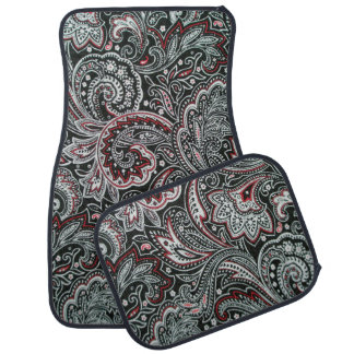 Black and Red Paisley Pattern Car Mats Floor Mat