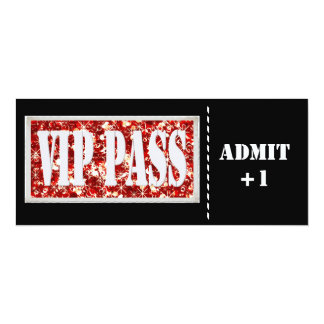 Black and Red party VIP invitation