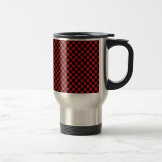 Black and Red Polka Dots Coffee Mug