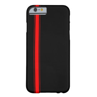 Black and Red Racing Stripe iPhone 6 case