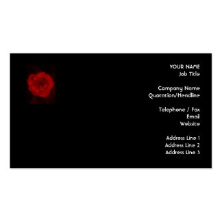 Black and Red Rose. Business Card