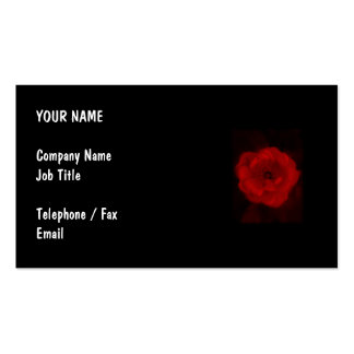 Black and Red Rose. Business Card Template