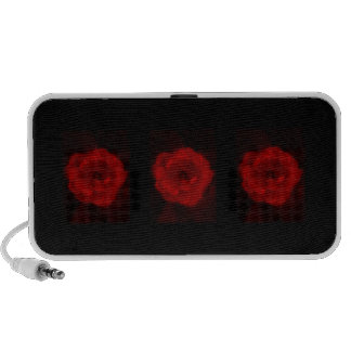 Black and Red Rose. Portable Speakers