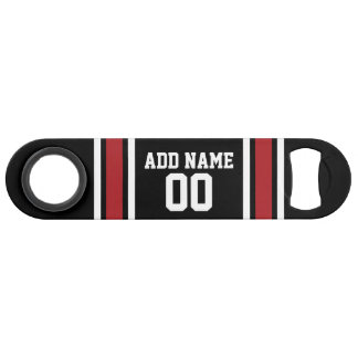 Black and Red Sports Jersey Custom Name Number