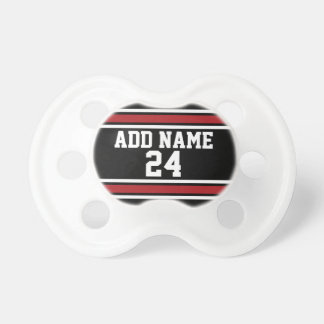 Black and Red Sports Jersey Custom Name Number Dummy