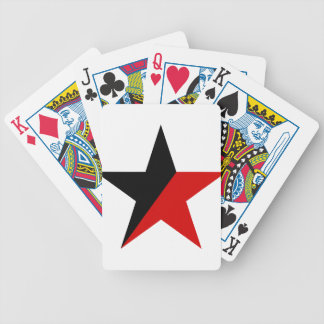 Black and Red Star Anarcho-Syndicalism Anarchism Bicycle Playing Cards