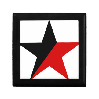Black and Red Star Anarcho-Syndicalism Anarchism Gift Box