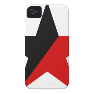 Black and Red Star Anarcho-Syndicalism Anarchism iPhone 4 Case-Mate Case