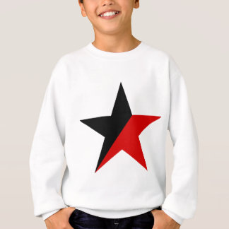 Black and Red Star Anarcho-Syndicalism Anarchism Sweatshirt