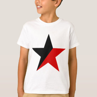 Black and Red Star Anarcho-Syndicalism Anarchism T-Shirt