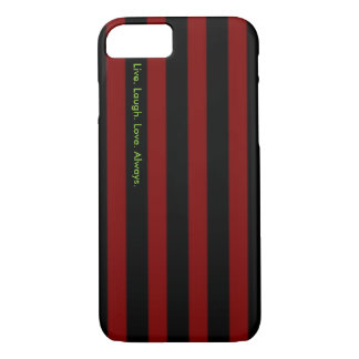 Black and Red Striped Case w/Quote