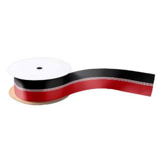 Black and Red Stripes Satin Ribbon