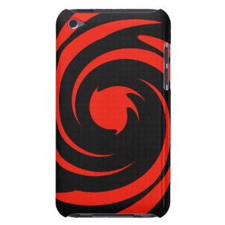 Black and red swirl iPod touch cases