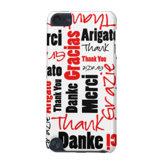Black and Red Thank You Word Cloud iPod Touch (5th Generation) Cases