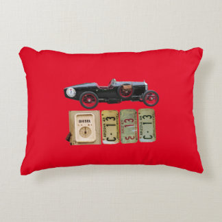 Black and red vintage car cushion