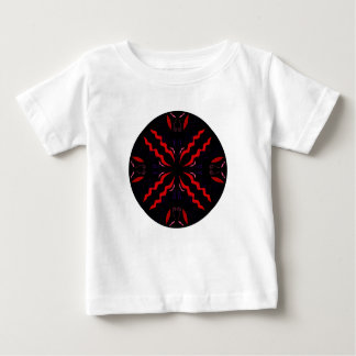 Black and red Vintage mandala Baby T-Shirt