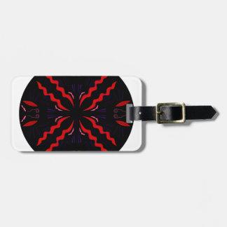 Black and red Vintage mandala Luggage Tag