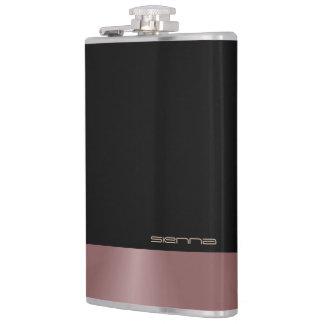 Black and Rosewood Metallic  Flask