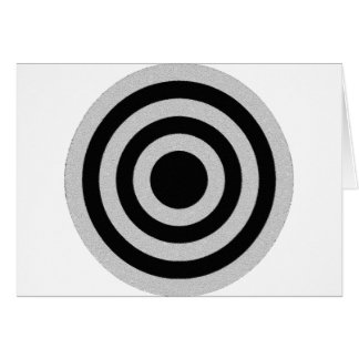 Black and Silver BullsEYE Card