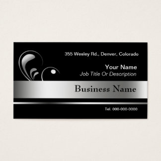 Black and Silver Business Card Templates