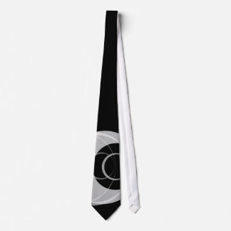 Black and Silver Circles Tie