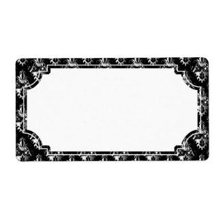 Black and Silver Damask Pattern