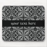 Black and Silver fantasy Mouse Pad