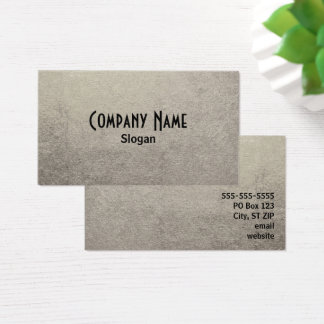 Black and Silver Foil Photo Business Card