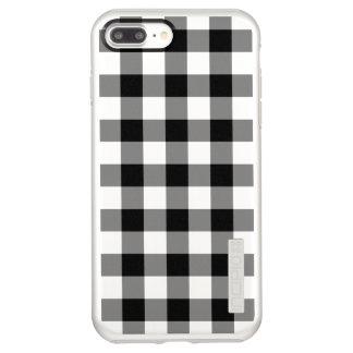 Black and Silver Gingham Pattern Incipio DualPro Shine iPhone 8 Plus/7 Plus Case