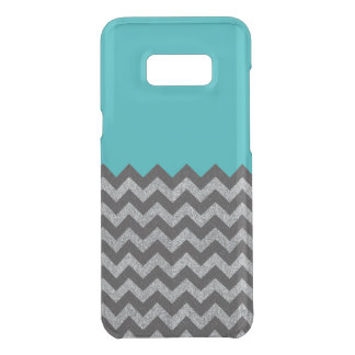 Black and Silver Glitter Chevron Samsung Case