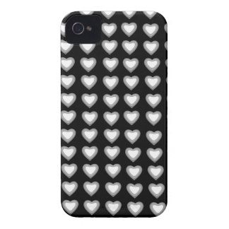 Black and silver Hearts BlackBerry Bold Case-Mate Case-Mate iPhone 4 Cases