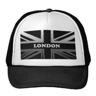 Black and Silver London Modern Union Jack Flag Mesh Hat