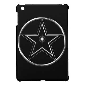 Black And Silver Pentacle iPad Mini Cases