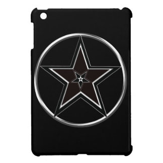 Black And Silver Pentacle with Inverted Pentagram iPad Mini Case