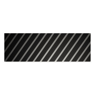 Black and silver Pinstripe business cards