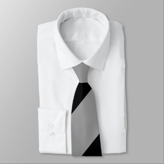 Black and Silver Regimental Stripe Tie