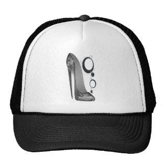Black and Silver Stiletto Shoe and Bangles Art Cap