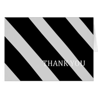 Black and Silver Stripes-Thank You Card