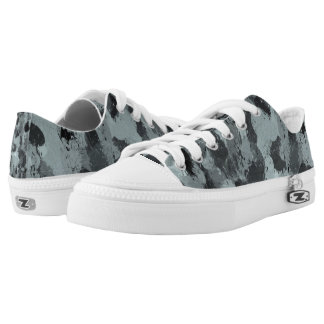Black and Smokey Blue Pastels 3216 Low Tops