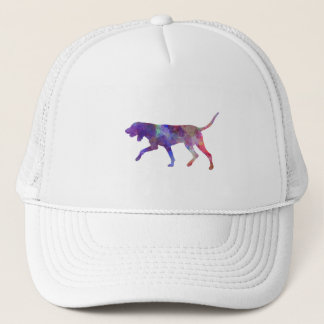 Black and So Coonhound in watercolor Trucker Hat
