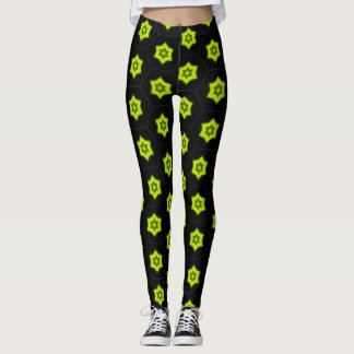 Black and Star Leggings