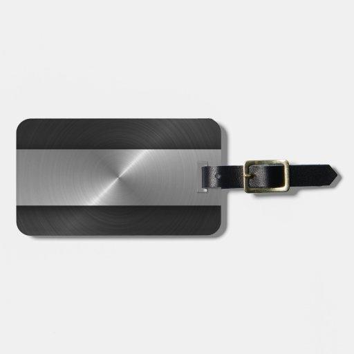 Black And Steel Bag Tags