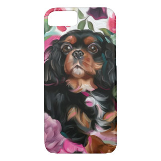 Black and Tan Cavalier phone case