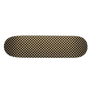 Black and Tan Checkered Custom Skate Board