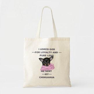 Black and Tan Chihuahua Puppy Tote Bag