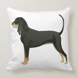 Black and Tan Coonhound Basic Breed Customizable Cushion
