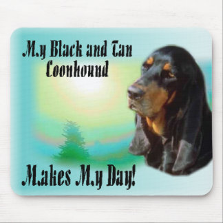 Black and Tan Coonhound Gifts Mouse Pad